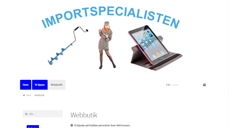 Importspecialistens webbutik